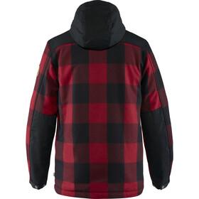 Fjällräven Greenland Veste Laine recyclée Homme, red-black